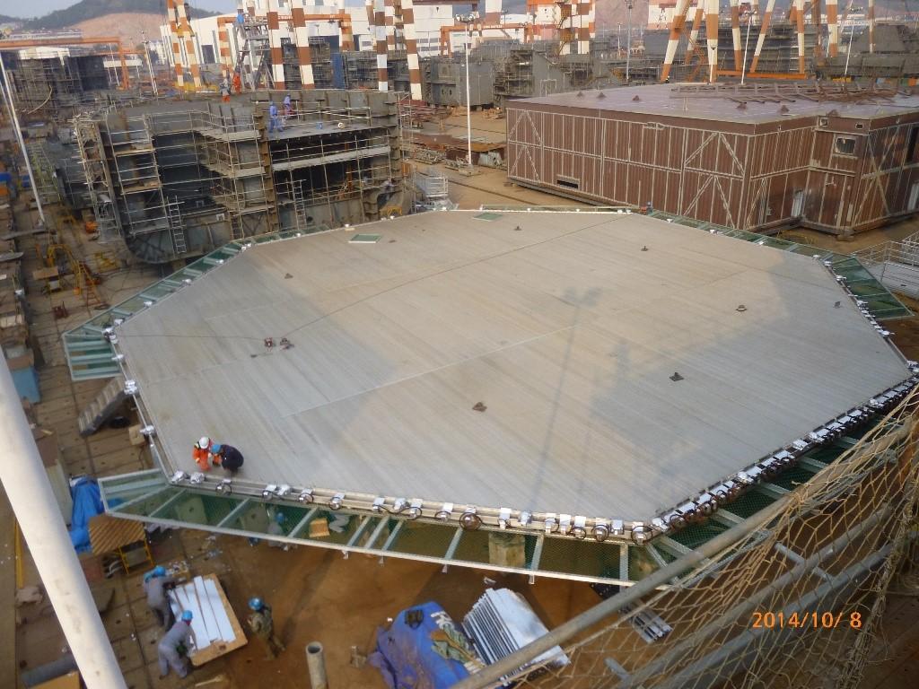 Heli-deck assembling ongoing oct 14